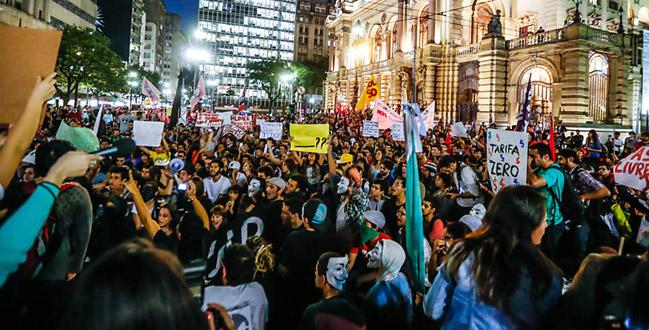 Em meio aos protestos em SP, a  mídia mostra de qual lado está de verdade